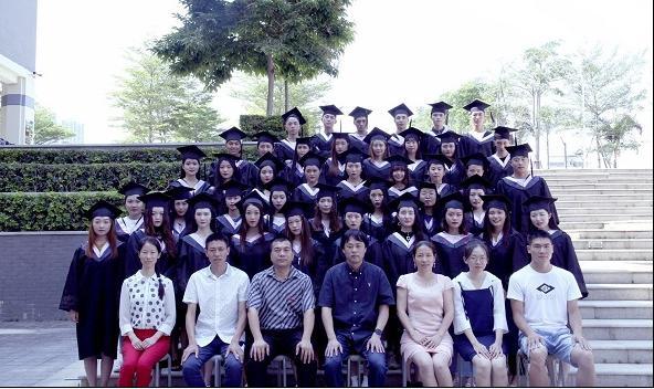 杨艳与陈锋、学生等人合影